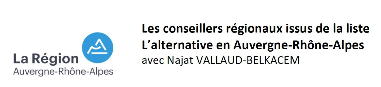 Elections régionales 2021 région AuRA: liste 5 NAJAT VALLAUD-BELKACEM l'alternative en Auvergne Rhône-Alpes  7710b1e72b35f51089f0093043bea19a13f31adc138f4ce695b98aefe26e3c6a